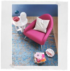 Pink und Blau – diese Farben wollen wir Pink, Colours, Rugs, Home Decor, Styling Tips, Blue, Colors, Farmhouse Rugs, Decoration Home