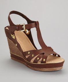 Take a look at this Camel Carissa-02 Wedge Sandal by Bumper on #zulily today!
