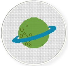 FREE for March 7th 2014 Only - Planet Green Cross Stitch Pattern