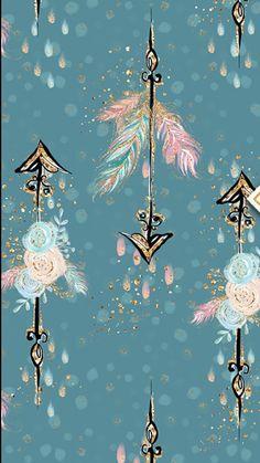 Arrow feathers flowers