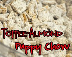 A nice twist on puppy chow using Hersey's symphony bars!