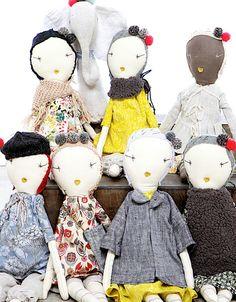 Lil Buckeroo ♥s these rag dolls