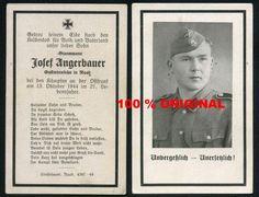 orig. WK2 STERBEBILD - DEATH CARD - ELITE - POLEN 1944 - REGT. Th. EICKE