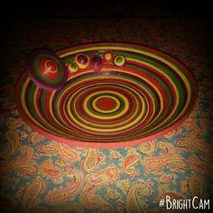 Centro de mesa con serpentina