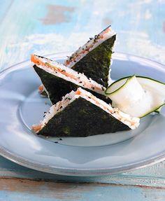 Snack: Mini Sammies for Sushi Lovers! I wish I had thought of this myself, its brilliant! The sushi-reminiscent oriental sandwichI wish I had thought of this myself, its brilliant! The sushi-reminiscent oriental sandwich Sushi Recipes, Asian Recipes, Cooking Recipes, Healthy Recipes, Sandwich Recipes, Easy Recipes, I Love Food, Good Food, Yummy Food