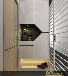 Condo Entryway Modern For Your 18 RenoEasi Com Cupboard Design, House Design, Foyer Cabinet, Foyer Design, Entrance Design, Shoe Cabinet Design, Home, Residential Interior, Cabinet Design