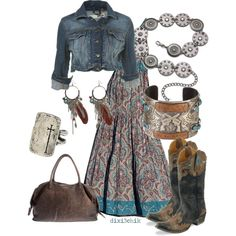 A fashion look from January 2012 featuring A.N.A earrings and Mixit belts. Browse and shop related looks.