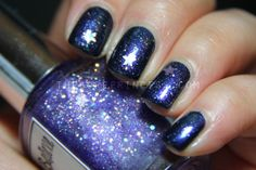 Whimsical Ideas by Pam I Believe in Fairies over Maybelline ColorShow 350 Blue Freeze