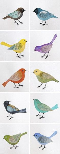 my love of birds.Geninne's Flock of Birds Watercolor Illustrations. Flock Of Birds, Wild Birds, Angry Birds, Bird Illustration, Art Plastique, Medium Art, Beautiful Birds, Pretty Birds, Beautiful Pictures