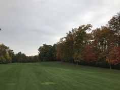 Fall colors in Michigan on the course - www.intl-golf-design.com