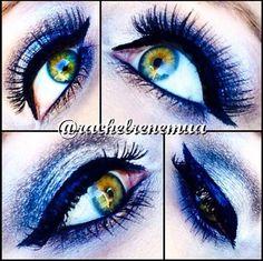 Maquiagem feita pela makeup artist americana @rachelrenemua usando os seguintes produtos: Jumbo Eye Pencil Cottage Cheese, delineador The Curve, Mechacical Pencil Eye Black e Glossy Black Liner