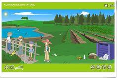 """""""Cuidando nuestro entorno"""" es una aplicación, de Agrega, en la que, mediante exposiciones y actividades interactivas, se trata el aprendizaje sobre el medio ambiente, sus elementos naturales y artificiales y las formas de cuidarlo."""
