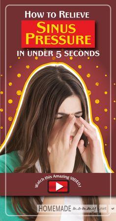 How to Relieve Sinus Pressure in Under 5 Seconds [VIDEO] | www.homemademommy... #essentialoils #homeremedies