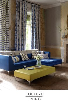 Made with quality woven fabric, Camelia by Clarke & Clarke is part of the Traviata collection and is available to purchase as either curtains or blinds.
