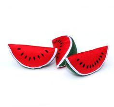 #FeltFruit #FeltWatermelon ONE #WatermelonSlice #FarmersMarket #PretendFood #FeltToy