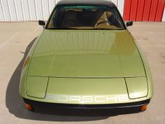 Beautiful 1977 Porsche 924 w/ factory option Reseda Green Metallic. I'd replace the word mark with the official logo + retrim the interior with half leather and pascha.