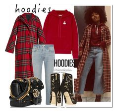 """""""Hoodies X Coat...."""" by nfabjoy ❤ liked on Polyvore featuring Étoile Isabel Marant, Burberry, RE/DONE, Dolce&Gabbana, Gucci and Hoodies"""