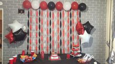 Black white and red roblox theme birthday party diy
