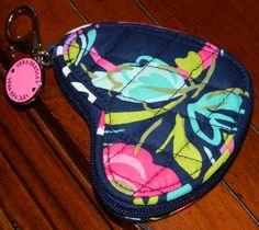 Sweetheart Coin Purse | Vera Bradley - Ribbons, $18.00 #BreastCancerAwareness @verabradley