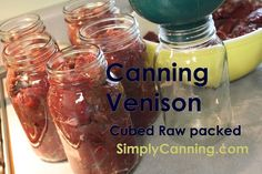 Canning Venison, raw packed, cubed or strips. So easy. I only use 1 tsp of salt per quart.