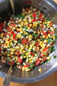 Jenessa's Dinners: Roasted Corn Salad Corn Salad Recipes, Corn Salads, Veggie Recipes, Mexican Food Recipes, Cooking Recipes, Healthy Recipes, Healthy Salads, Healthy Foods, Vegetarian Recipes