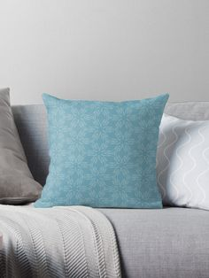 """Milky Blue #1"" Throw Pillow by Kettukas 