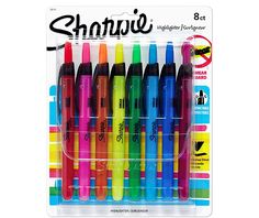 Sharpie Accent Retractable Highlighters Assorted Narrow Chisel Tip 8 Count for sale online Free School Supplies, College School Supplies, Craft Supplies, Office Supplies, Planner Supplies, Sharpie Highlighter, Best Highlighter, School Essentials, School Checklist
