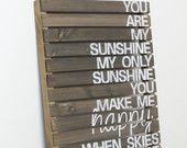 As For Me And My House We Will Serve The Lord- Rustic Pallet Wood Sign. $69.00, via Etsy.