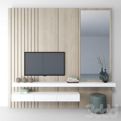 Bedroom Tv Wall, Bedroom Closet Design, Home Room Design, Home Decor Bedroom, Home Interior Design, Wall Tv, Wardrobe Design, Tv Unit For Bedroom, Bedroom With Tv