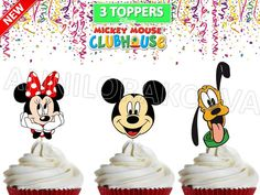Printable Disney Mickey Clubhouse Minnie Cupcake by ANNILORACK