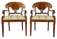 French Walnut   Library Chairs, Pair on OneKingsLane.com