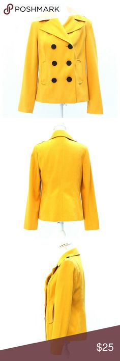 Old Navy Yellow Wool Pea Coat Great pre-owned condition.  Would benefit from dry cleaning but not necessary.  Measurements to come. Old Navy Jackets & Coats Pea Coats