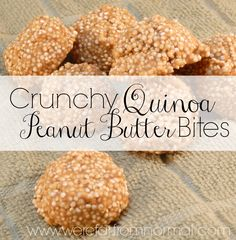 I have mentioned it time and time again, I am a huge quinoa fan. So when I found out that there was such thing as puffed (or popped) quinoa I was excited to try it! And so these tasty treats were born!