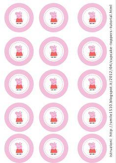 Pig Birthday, 4th Birthday Parties, Cumple Peppa Pig, Pig Party, Cupcake Toppers, Printables, Peppa Big, Birthdays, Candy Bars