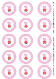 Peppa pig on Pinterest | Peppa Pig, Cupcake Toppers and Dessert Tables