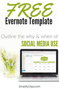 Gain control of your digital life so you can focus on real life. This template will teach you how to implement Purpose Drive Social Media. The template is designed to be used in Evernote, a free organization application. The template includes a free Evernote guide and a template instructional video. // SimplifyDays.com