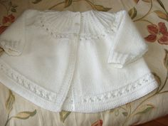 RESERVED  for DIANE Cashmere Merino Silk Heirloom Quality Hand Knit Vintage Style Baby Matinee Jacket / Sweater 0 - 3 months