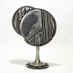 Abstract metal sculpture The record of the islan… Scrap me… - Modern Metal Sculpture Wall Art, Abstract Sculpture, Abstract Art, Old Farm Equipment, Junk Art, Art Model, Abstract Styles, Types Of Art, Sculptures