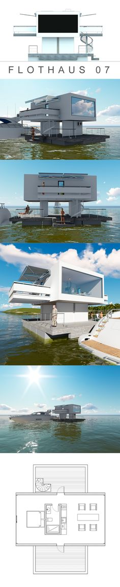 FLOATING HOUSE. LUXURY APARTMENTS. Architectural workshop EFREMOFF and PARTNERS.