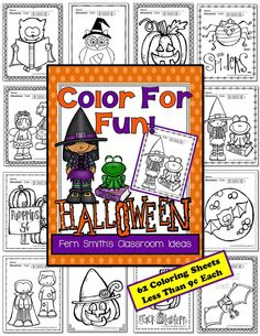 halloween coloring pages 62 pages of halloween coloring fun - Halloween Fun Pages Printables