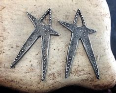 Star Charms  Handcrafted Jewelry Making Supplies Earring