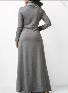 Women Long Sleeve Dress Large Size Long Maxi Dress Autumn Warm Turtleneck Woman Clothing With Pocket Plus Size Winter Dresses, Casual Dresses, Long Dresses, Night Dress For Women, Moda Plus, African Fashion Dresses, Clothes For Women, Long Sleeve, Woman Clothing