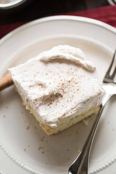 This cake has everything you love about a snickerdoodle! There is lots of cinnamon and brown sugar hidden inside the cake an the creamy frosting is positively addicting!