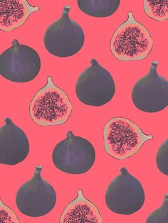 Fig pattern by Georgiana Paraschiv It would be great as wallpaper or curtains. Figs are food of the Gods