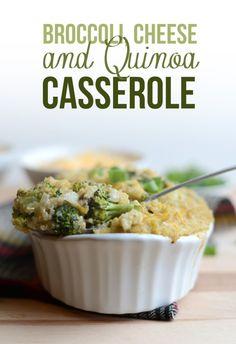 Broccoli cheese and quinoa casserole