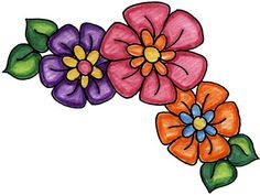 Images of flowers and butterflies Page Borders Design, Border Design, Flower Images, Flower Art, Decoupage, Clip Art, Borders And Frames, Flower Clipart, Flower Doodles