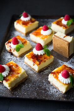 These look awesome. Creme Brulee Cheesecake Bars | Cooking Classy