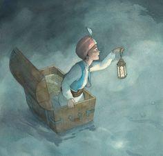 Illustratie uit 'Sindbad de Zeeman' van Quentin Gréban