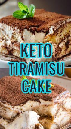 Low Sugar Desserts, Sugar Free Sweets, Low Carb Deserts, Healthy Deserts, Keto Desserts, Dessert Recipes, Sugar Free Tiramisu Recipe, Low Carb Pound Cake Recipe, Keto Cake