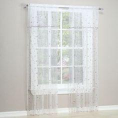 No918 Millennial Flora Sheer Voile Curtain & Valance